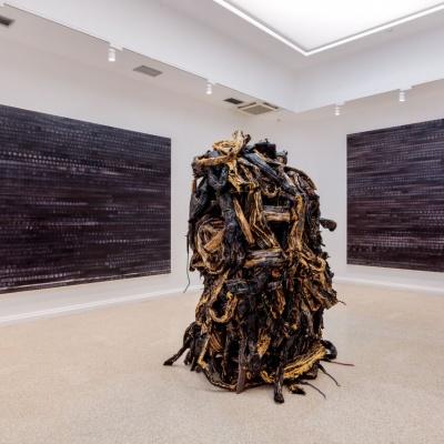 Mark Bradford installation at US Pavilion
